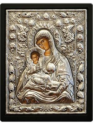 Icoana din argint Maica Domnului cu Pruncul (26,8x22,6 cm) cod 103-06