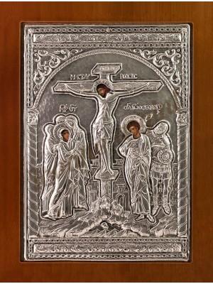 "Icoana din argint ""Rastignirea"" (21.8x16 cm) cod 102-22"