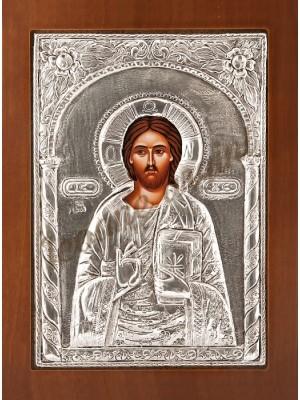 """Icoana din argint """"Iisus"""" (21.8x16 cm) cod 102-16"""