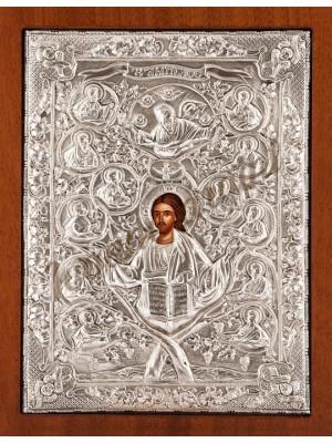 "Icoana din argint ""Iisus - Vita de Vie"" (26.8x22.6 cm) cod 103-27"
