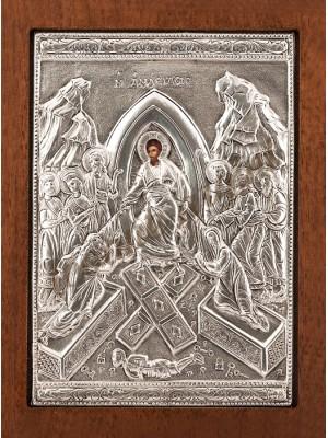 """Icoana din argint """"Invierea"""" (21.8x16 cm) cod 102-37"""