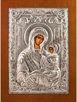 """Icoana din argint """"Sfanta Ana"""" (21.8x16 cm) cod 102-61"""